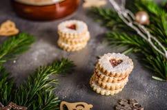Caramelo de la Navidad, galletas Imagen de archivo