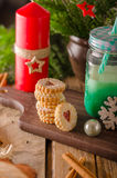 Caramelo de la Navidad, galletas Imagenes de archivo
