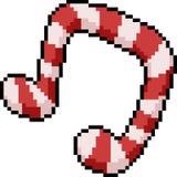 Caramelo de la nota de la canción del arte del pixel del vector ilustración del vector
