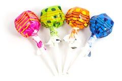 Caramelo de la piruleta colorido Fotos de archivo