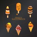Caramelo de la piruleta de Halloween Fotografía de archivo libre de regalías