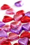 Caramelo de la tarjeta del día de San Valentín foto de archivo