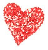 Caramelo de la tarjeta del día de San Valentín Fotografía de archivo