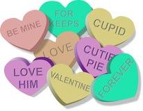 Caramelo de las tarjetas del día de San Valentín ilustración del vector
