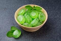 Caramelo de menta verde Imágenes de archivo libres de regalías