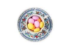 Caramelo de mentas en la taza foto de archivo libre de regalías
