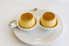 Caramelo de nata rústico caseiro Fotografia de Stock