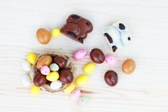 Caramelo de Pascua en la jerarquía Fotos de archivo libres de regalías