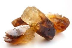 Caramelo de roca brillante del azúcar de Brown Foto de archivo libre de regalías