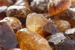 Caramelo de roca brillante del azúcar de Brown Fotos de archivo libres de regalías