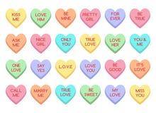 Caramelo del amor stock de ilustración