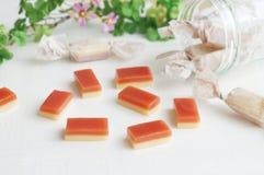 Caramelo del caramelo con sabor de la fresa Fotografía de archivo libre de regalías
