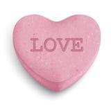 Caramelo del corazón Fotografía de archivo libre de regalías