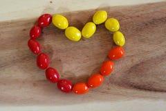 Caramelo del corazón Foto de archivo libre de regalías