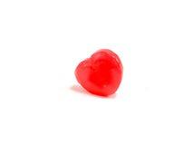caramelo del corazón del ‡ del ¹ del à en el fondo blanco Fotografía de archivo libre de regalías