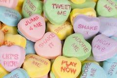 Caramelo del corazón del día de tarjeta del día de San Valentín Imagen de archivo libre de regalías