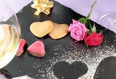 Caramelo del día de tarjeta del día de San Valentín foto de archivo