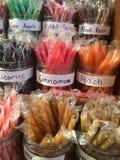 Caramelo del palillo para la venta Imagen de archivo libre de regalías