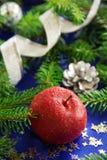 Caramelo del rojo de Apple Imagen de archivo libre de regalías