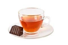 Caramelo del té y de chocolate Fotografía de archivo