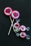Caramelo dulce con los corazones Fotografía de archivo libre de regalías