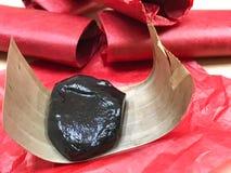 Caramelo dulce del postre tailandés en el papel rojo Fotos de archivo