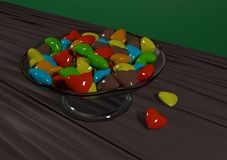 Caramelo en el florero Foto de archivo