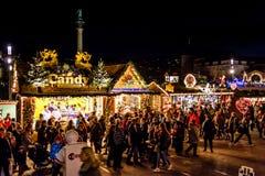 Caramelo en el mercado de la Navidad Imágenes de archivo libres de regalías