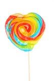 Caramelo en forma de corazón aislado Foto de archivo libre de regalías