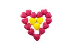 Caramelo en la forma del corazón Fotografía de archivo