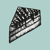Caramelo en un bosquejo del palillo Imagen de archivo libre de regalías