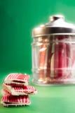 Caramelo en una botella Fotos de archivo libres de regalías