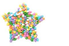Caramelo multi de las estrellas de los colores Imagen de archivo