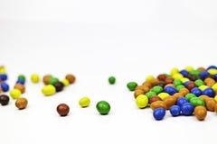 Caramelo multicolor - cacahuetes fotos de archivo libres de regalías