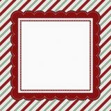 Caramelo rayado Cane Striped Background del verde, rojo y blanco Foto de archivo