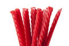 Caramelo rojo brillante del regaliz Foto de archivo libre de regalías