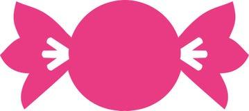 Caramelo rosado de los dulces del caramelo ilustración del vector