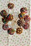 Caramelo sano en un palillo Imágenes de archivo libres de regalías