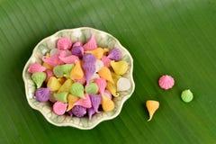 Caramelo tailandés colorido Aalaw del postre Fotografía de archivo