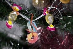 Caramelo y cinta multicolores Foto de archivo libre de regalías