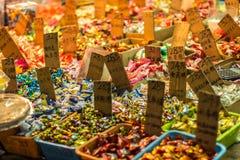 Caramelos chinos del Año Nuevo en venta Foto de archivo libre de regalías