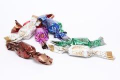 Caramelos coloridos clasificados Foto de archivo libre de regalías