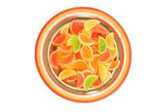 Caramelos coloridos de la jalea de fruta Fotos de archivo libres de regalías