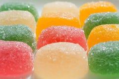 Caramelos coloridos de la jalea de fruta (primer) Fotos de archivo libres de regalías