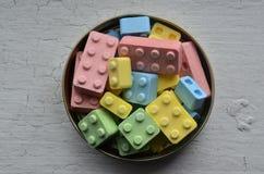 Caramelos coloridos desde arriba Foto de archivo