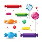 Caramelos coloridos realistas del vector Fotos de archivo libres de regalías