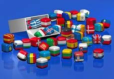 Caramelos con la textura de indicadores europeos Fotografía de archivo libre de regalías