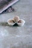 Caramelos crudos naturales de higos y de pasas fotos de archivo