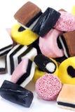 Caramelos de Allsorts del regaliz Imagenes de archivo