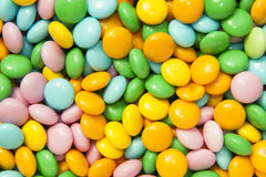Caramelos de azúcar coloridos Imágenes de archivo libres de regalías